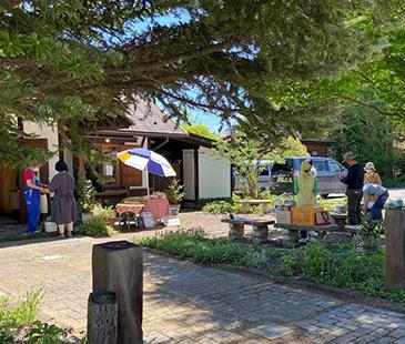 地域の振興のためにマルシェや展示会などのイベントを不定期で開催しています。